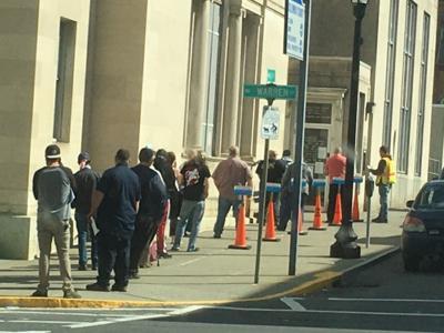 Deemed nonessential, DMV trucks on