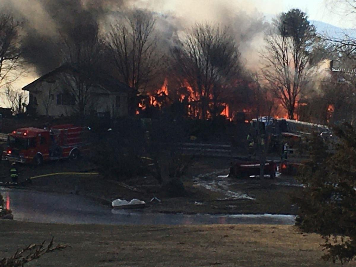 Brush fire engulfs Freehold home