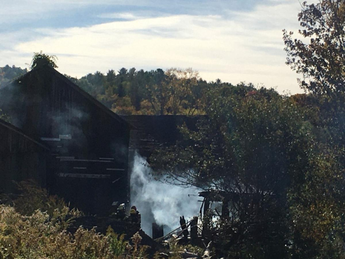 Fire damages barn in Canaan on Sunday
