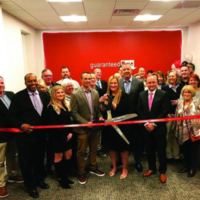 Ribbon-cutting ceremony for Guaranteed Rate Hudson branch