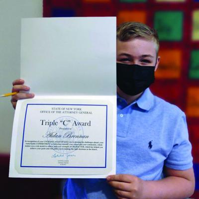 Cms student Brennan earns Attorney General's Triple 'C' Award