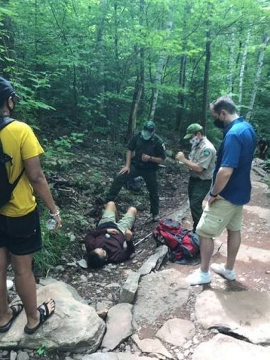 Rangers rescue hiker at Kaaterskill Falls