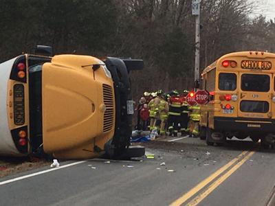 School bus roll over
