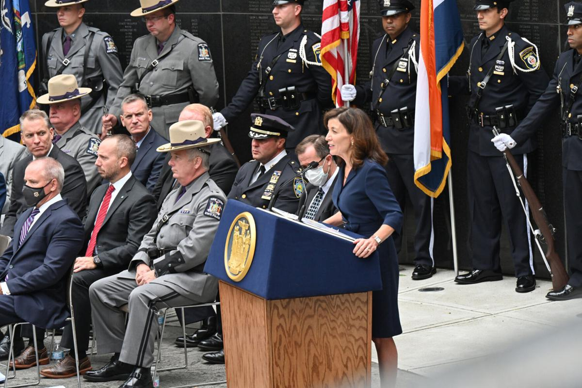 Hochul honors fallen officers, denounces 'defund the police'