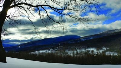 Beautiful Catskill Mountains in the snow