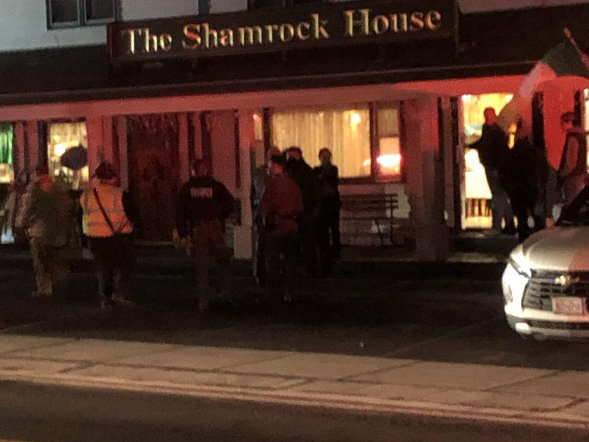 Car crashes into Shamrock House