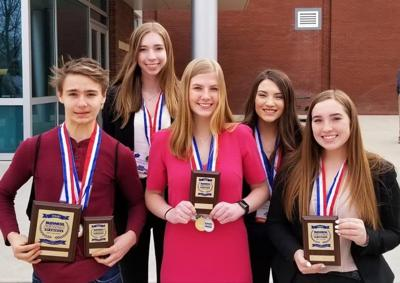 Grangeville High School's BPA members