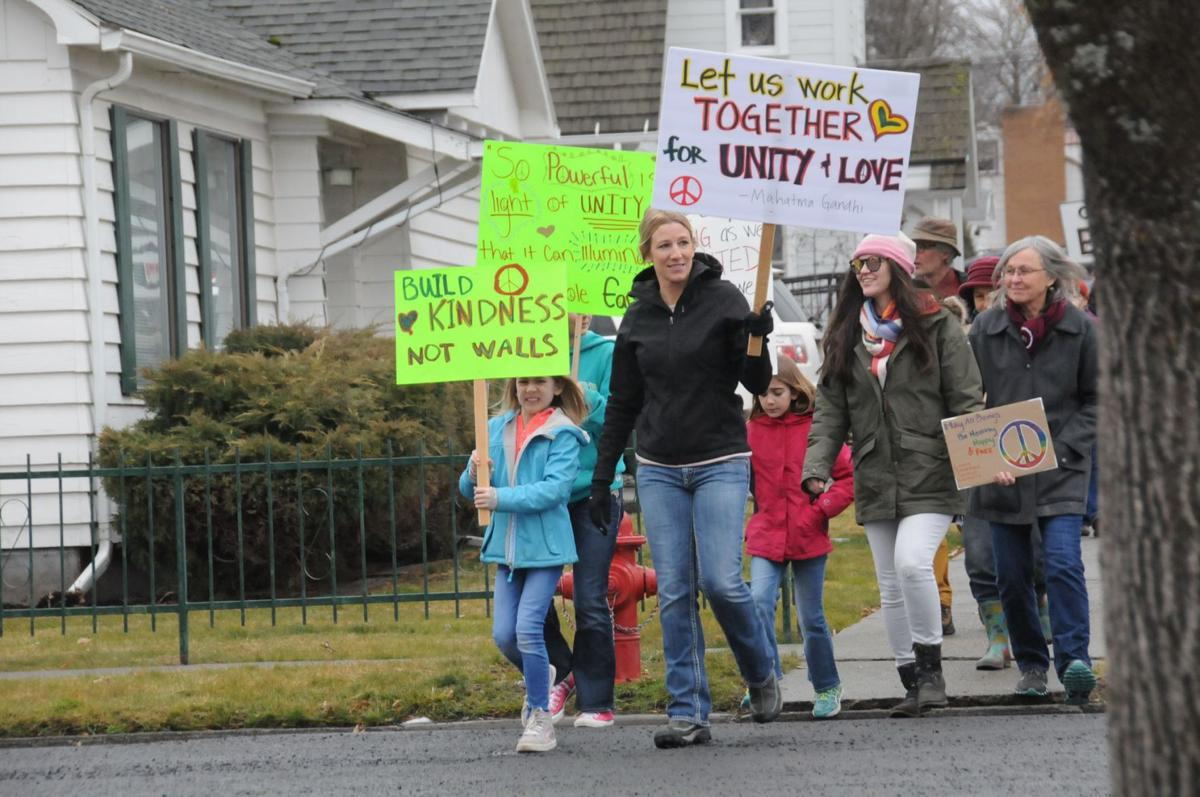 More than 50 people participate in People's March in Grangeville