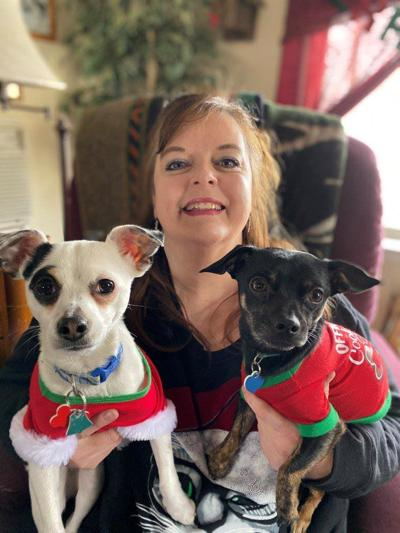 Lorie Palmer and her dogs