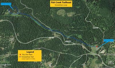 Fish Creek snowshoe trail