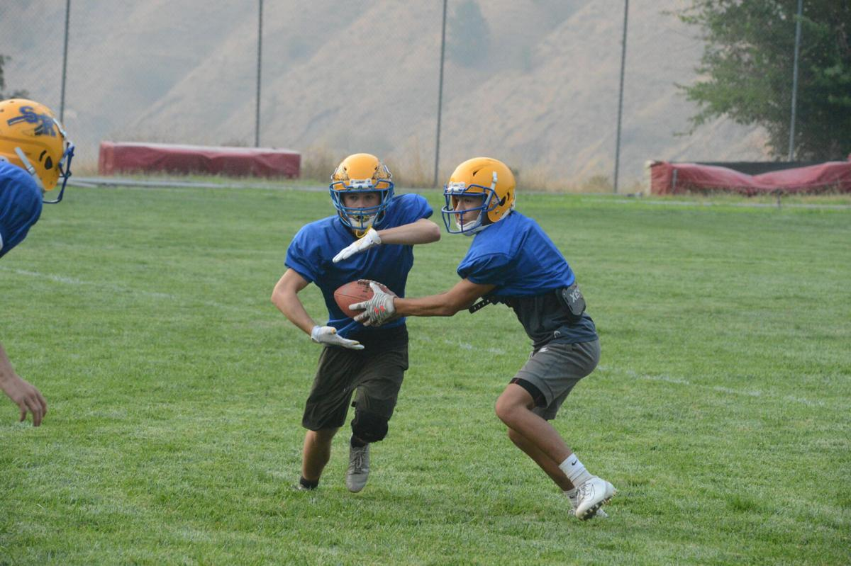Salmon River football practice photo