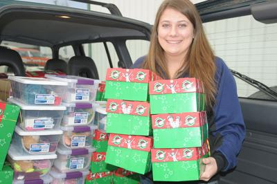 Conner collects shoeboxes for kids across the world