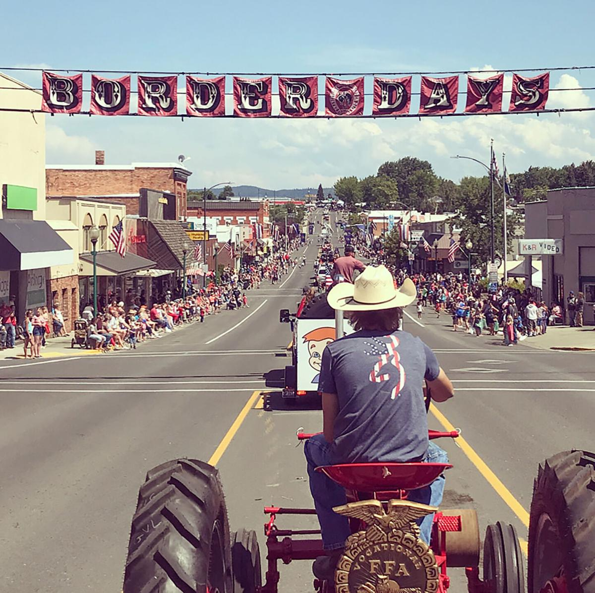 Farmall tractor at the Border Days parade photo