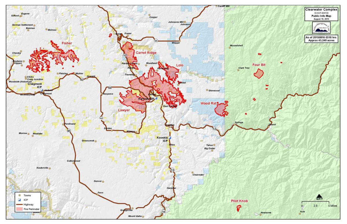 SUNDAY: Kamiah-area fire remains command's top priority
