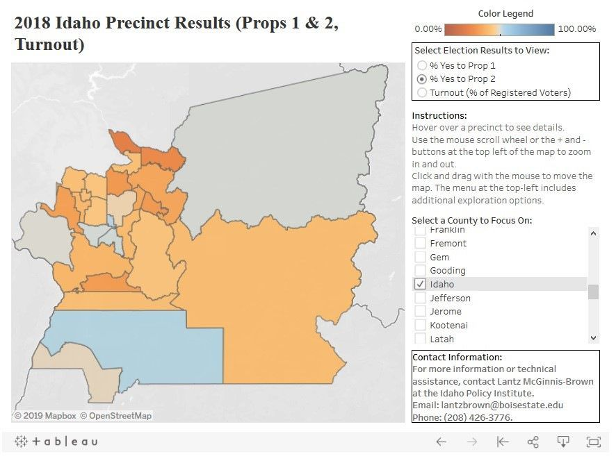 Map breaks down 2018 initiative votes down to county