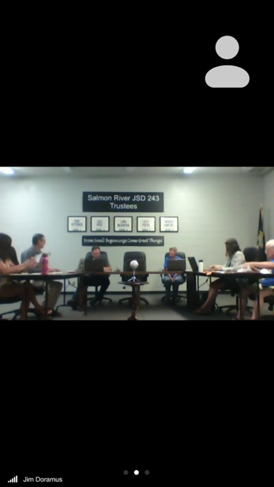 Salmon River Joint School District 243 board screen shot