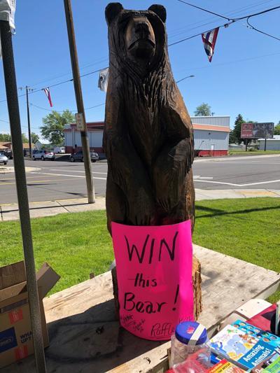 Bear is raffle prize