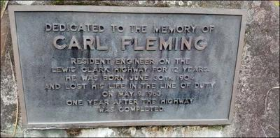 Carl Fleming memorial