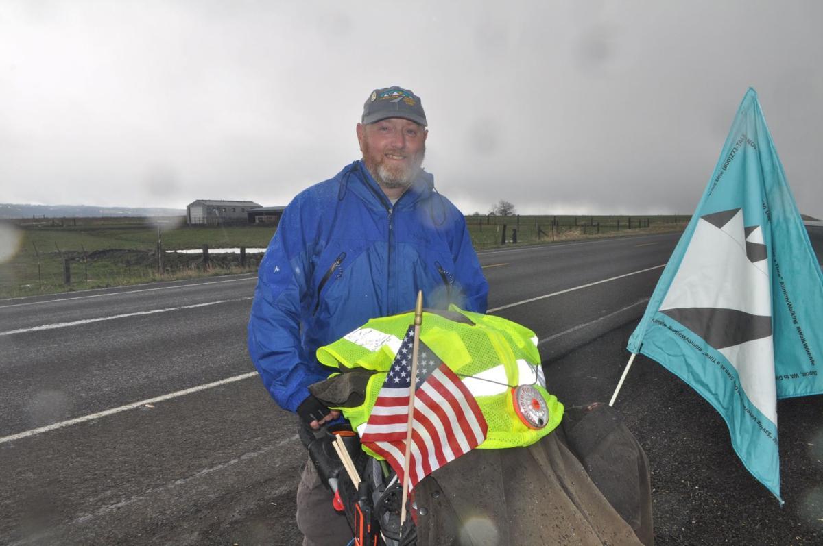 Veteran on cross-country walk to promote mental health awareness