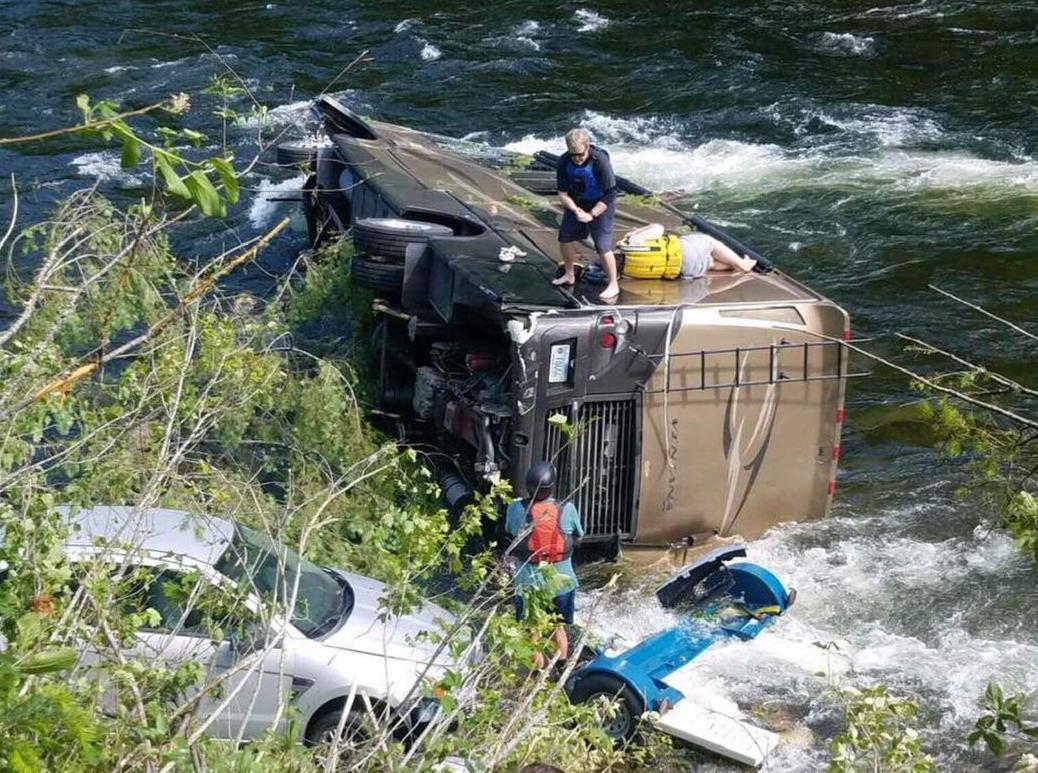 RV in the river