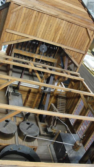 Scale model of a gold stamp mill photo