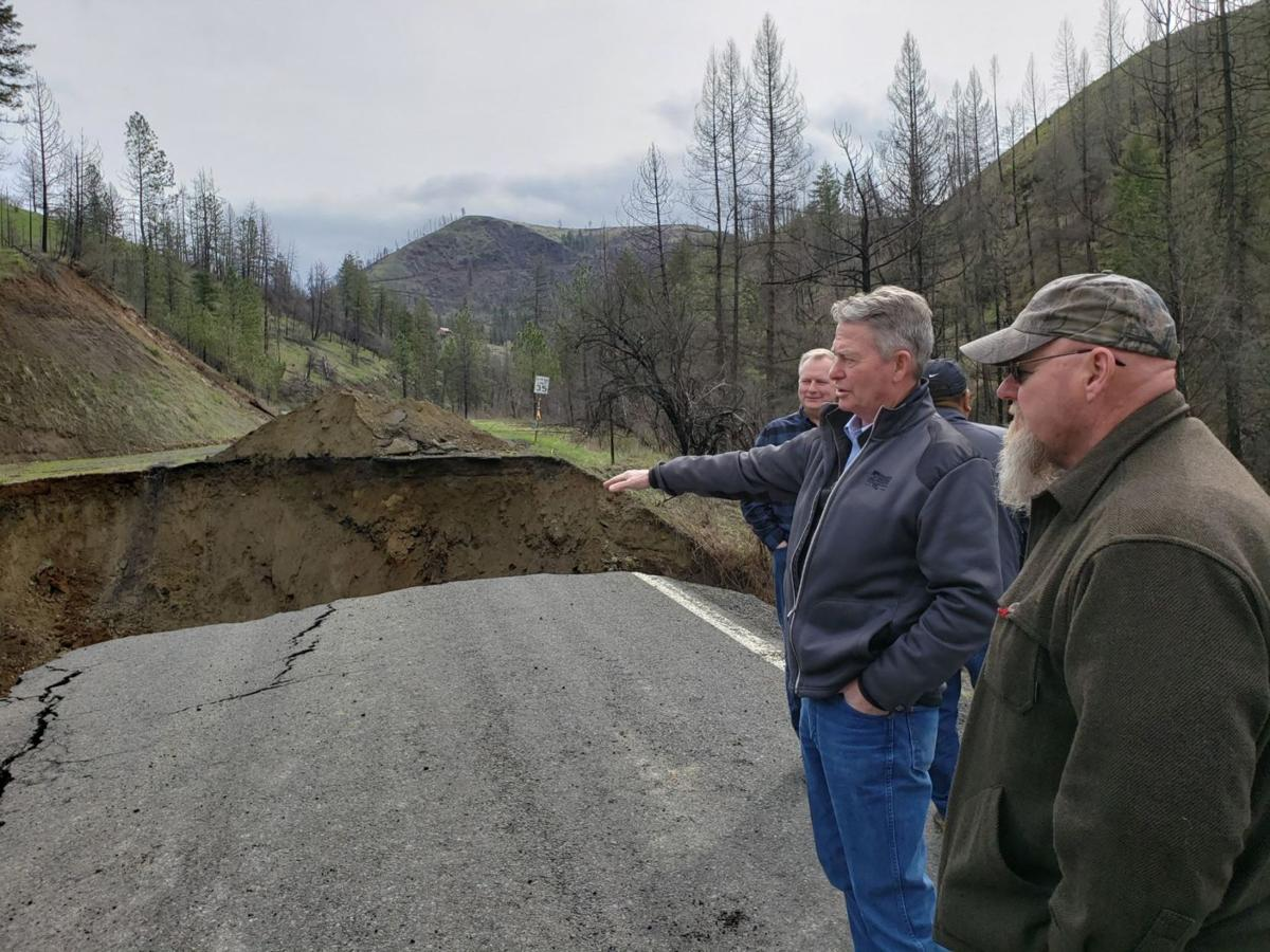 Gov. Little tours Idaho County flooding damage