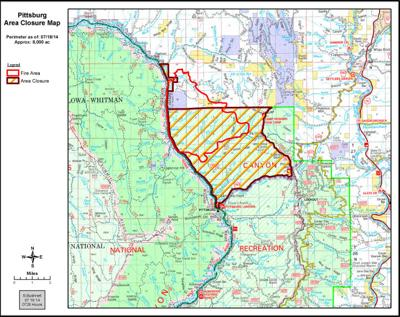 Kamiah Fire Map.Pittsburg Fire Hotshot Crews Working In Big River Canyon News