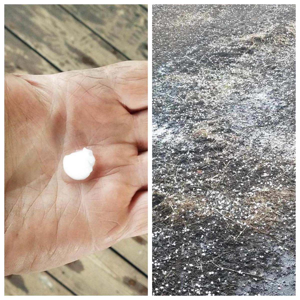 Hail in Greencreek