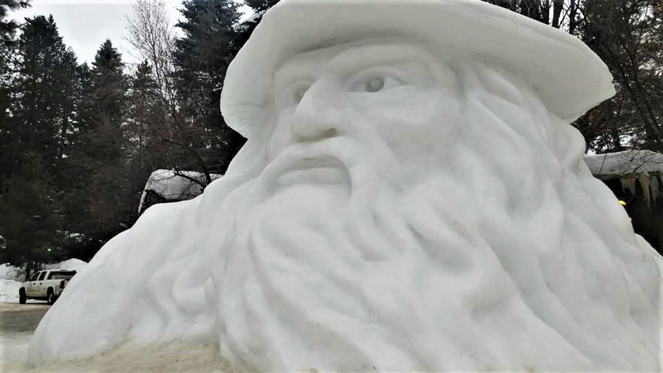 Snow sculpture pic
