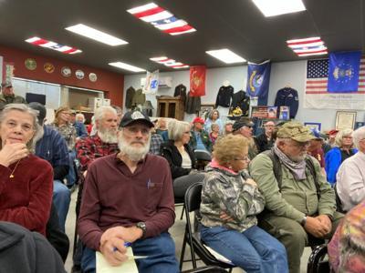 Priscilla Giddings' town hall meeting photo