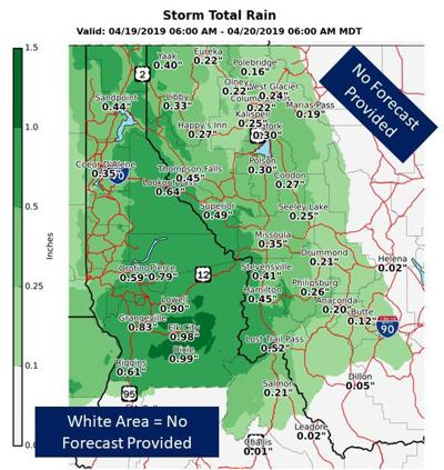 County could see up to 1 inch rain by weekend