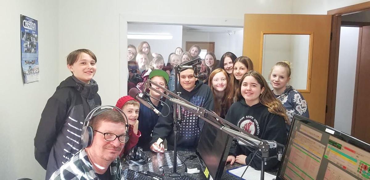 GEMS choir at radio station photo
