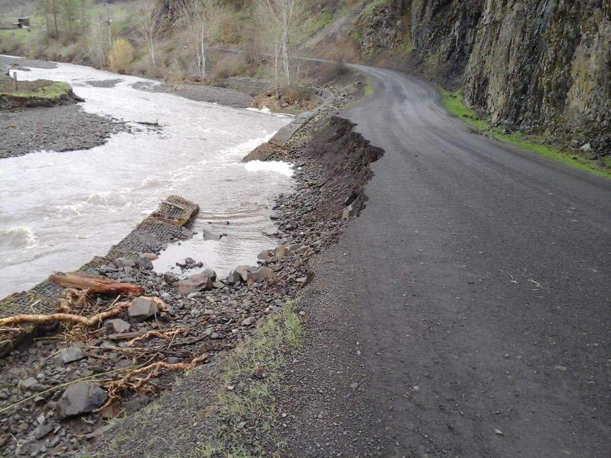 Road damage continues as South Fork Clearwater River subsides