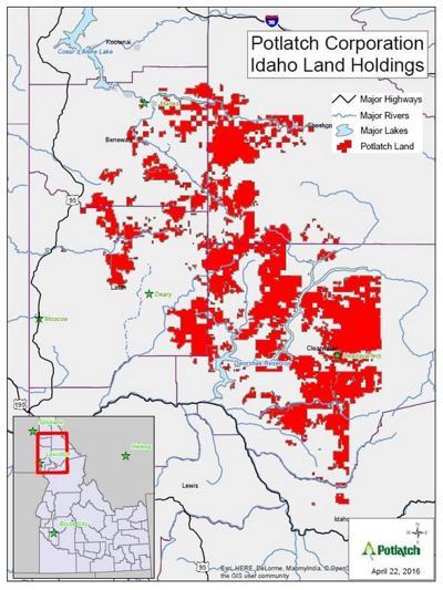 Potlatch Idaho Map.Potlatchdeltic Corporation Announces Campfire Burn Ban On Idaho