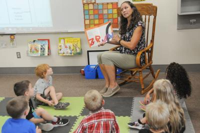 GEMS students hear a story photo