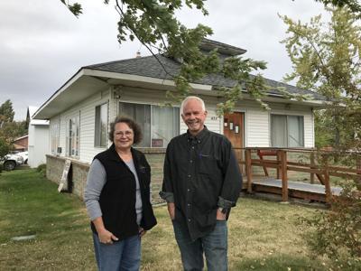 Camas Prairie Food Bank Board President Darlane Lovell and Director Ken Lefsaker