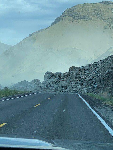 Rock slide on 95 pic