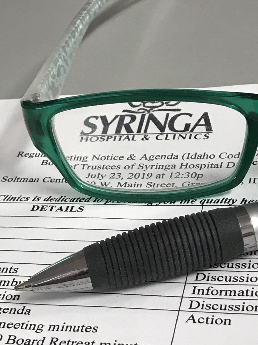 Syringa Hospital Board