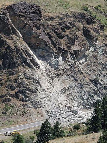 Sheep Creek slide (July 3)