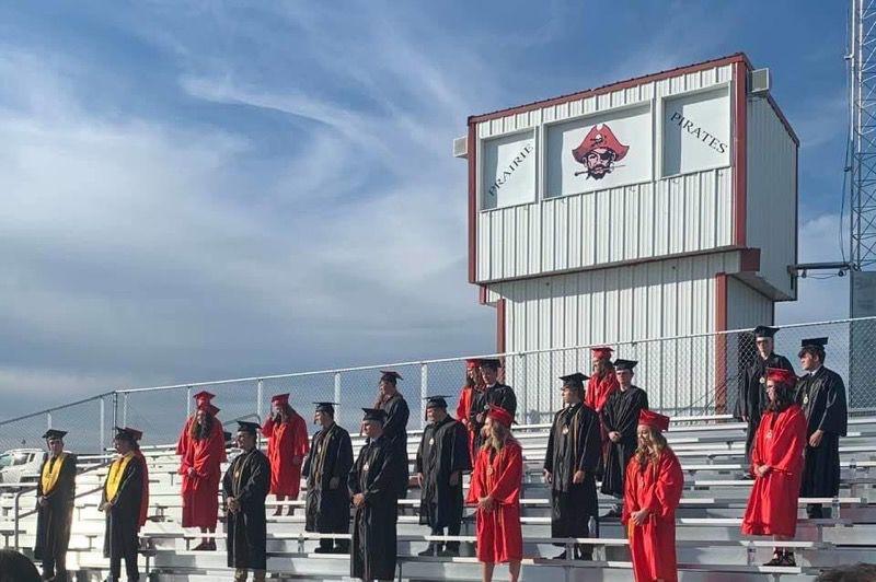 Prairie High School graduation pic