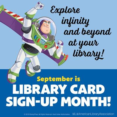Library card sign-up image