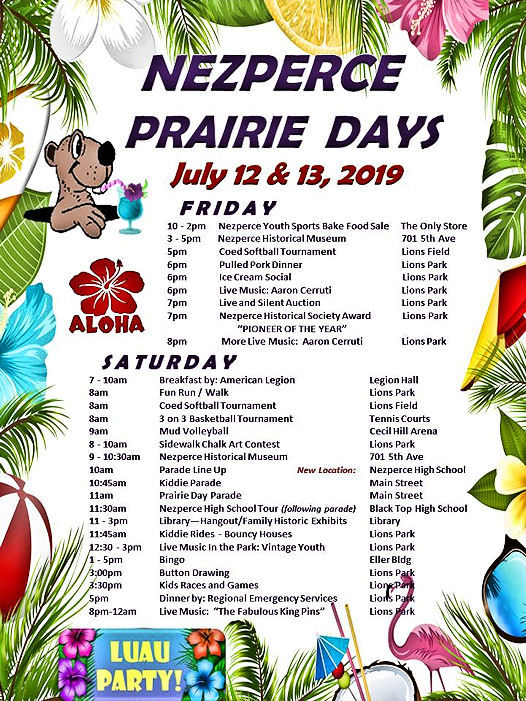 Prairie Day flyer