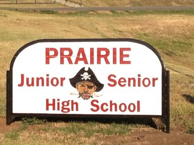 Prairie High School sign