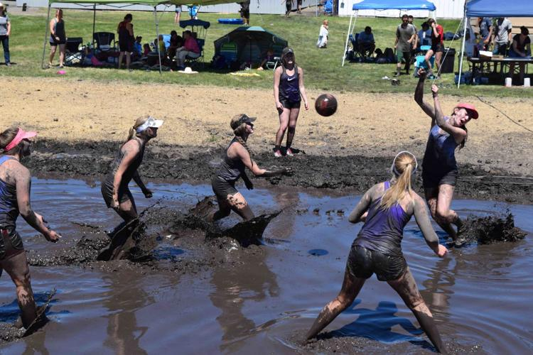 Mud Volleyball Tournament at Nezperce's Prairie Days