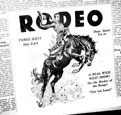 Grangeville Borderdays Rodeo Advertisement
