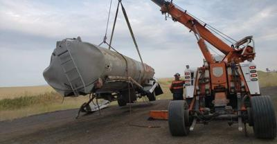 Wrecked fuel tanker photo