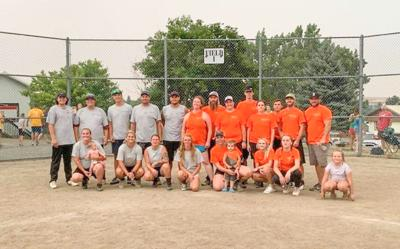 1st and 2nd place teams softball tournament held during Summer Fest photo