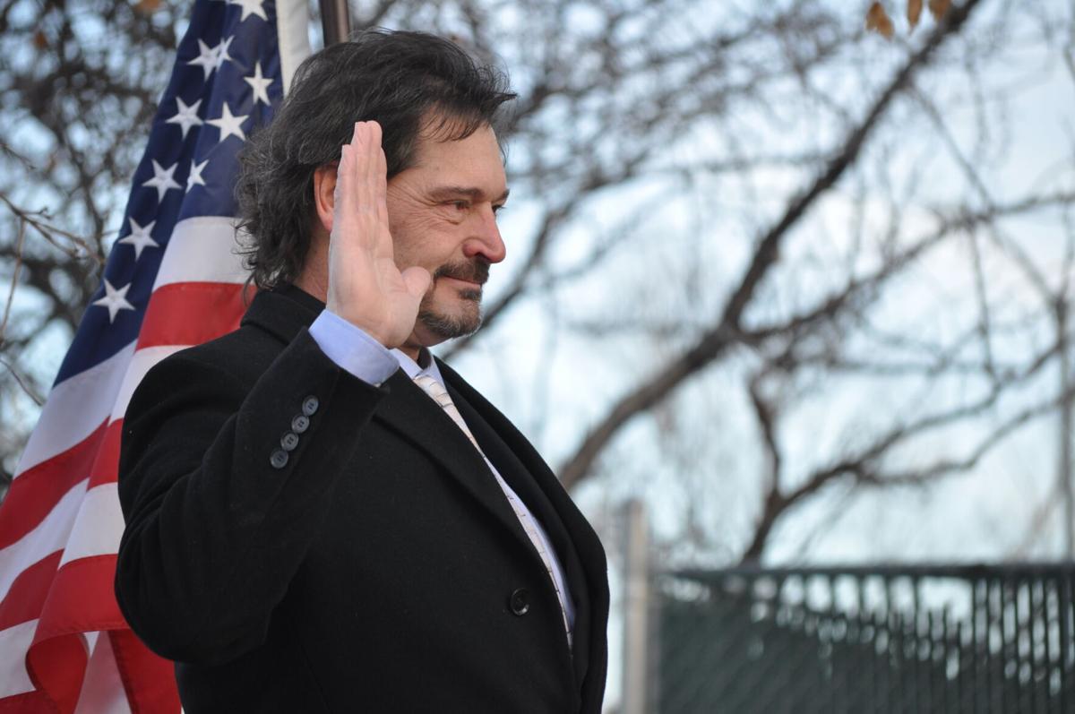 Ted Lindsley sworn in photo