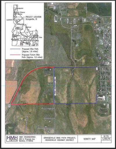 Map of proposed multi-use path