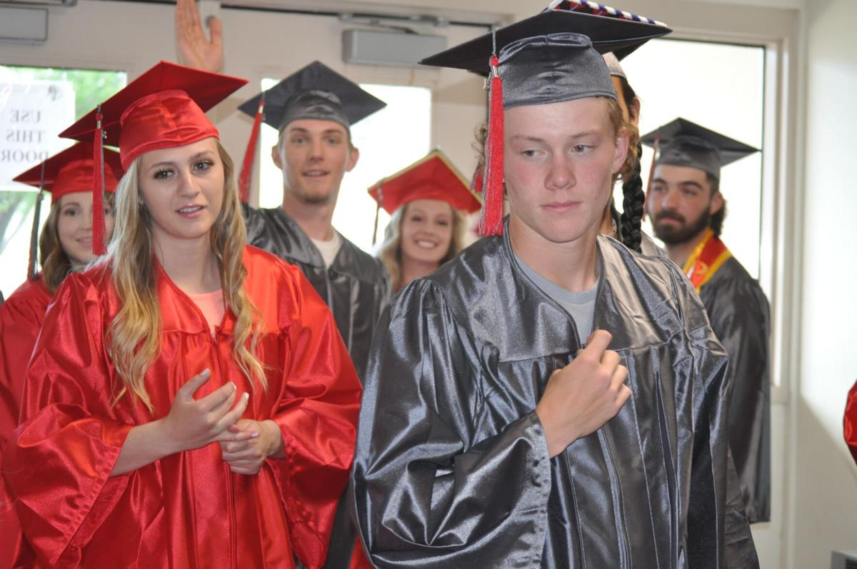 Clearwater Valley students wait for graduation photo